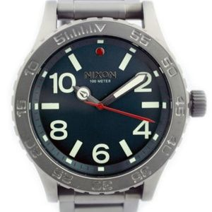 NEW NIXON Men's Watch Gunmetal Rotating Bezel